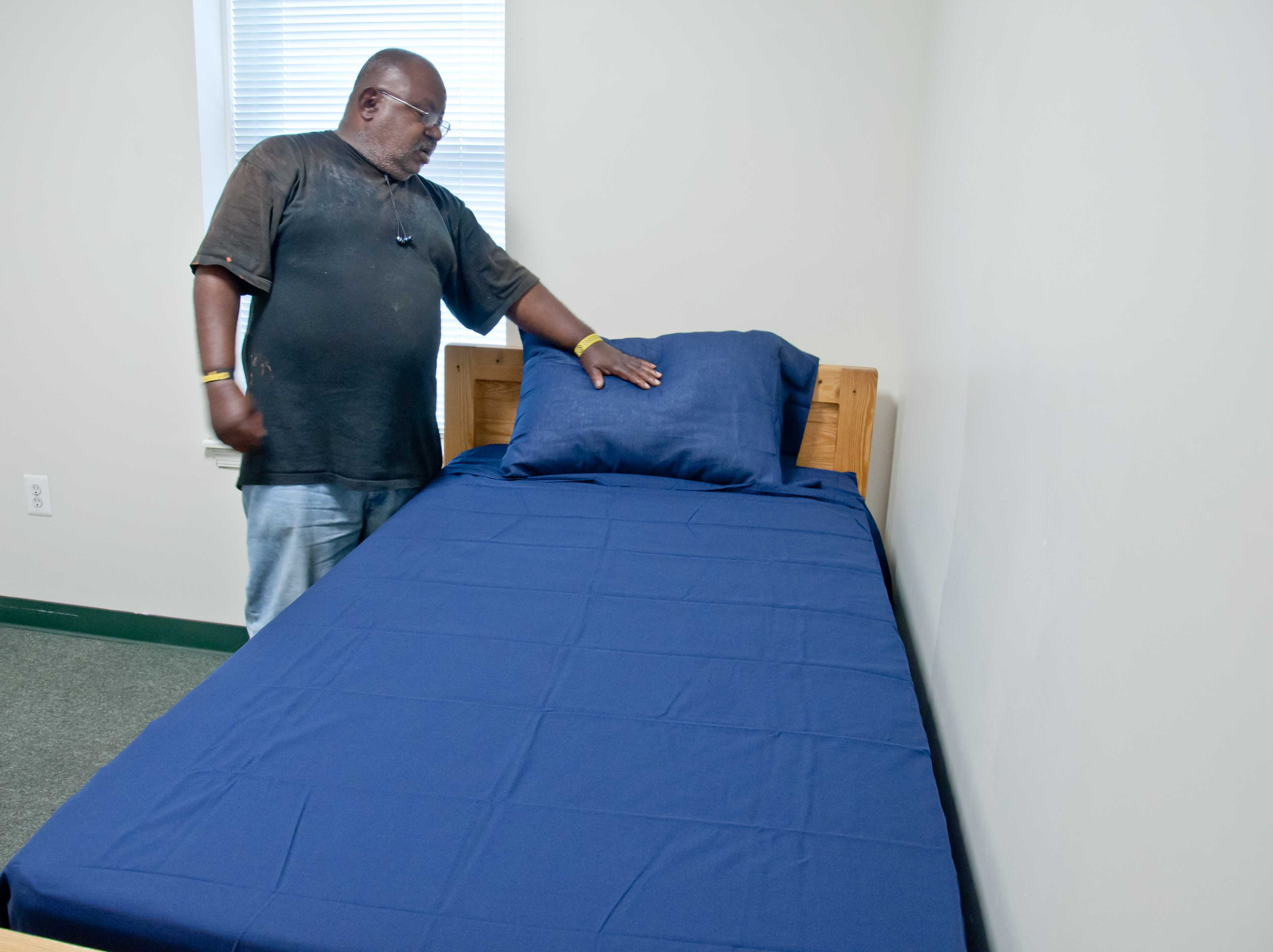 Anthony making his own bed for the first time in over a decade.